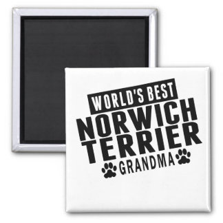 World's Best Norwich Terrier Grandma 2 Inch Square Magnet
