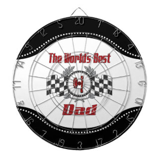 World's Best Number One Dad Racing Theme Dartboard With Darts