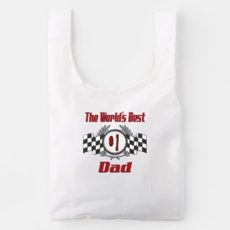 World's Best Number One Dad Racing Theme Reusable Bag