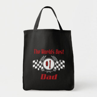 World's Best Number One Dad Racing Theme Tote Bag