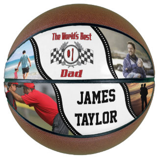 World's Best Number One Dad Racing with Photos Basketball