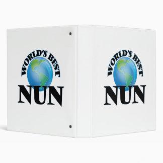 World's Best Nun 3 Ring Binder