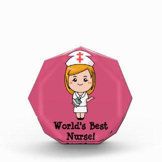 World's Best Nurse Acrylic Award