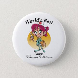 World's Best Nurse Button