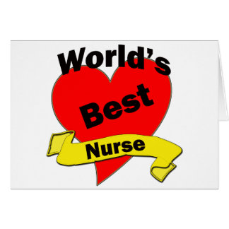 World's Best Nurse Card