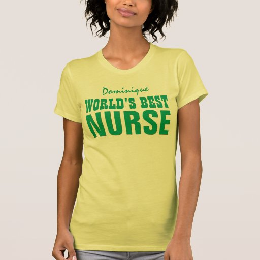 World's Best Nurse Custom Name V19 LEMON YELLOW T Shirts