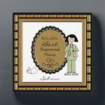 "World&#39;s Best Nurse Female Plaque<br><div class=""desc"">Personalize this plaque for your favorite nursing professional. Great gift for a career nurse friend or relative. Just use the customize button to edit the text in the easy Zazzle text editor. Cute image features a female nurse in scrubs with a stethoscope.. Created with artwork by Alice Smith of Whimsy...</div>"