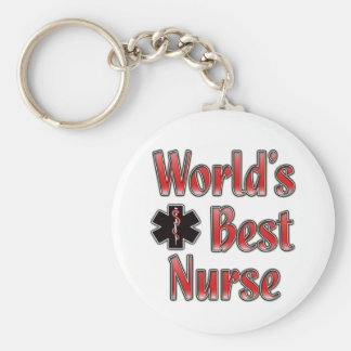 World's Best Nurse Keychain