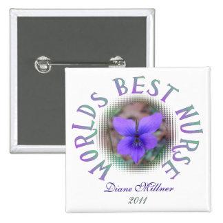 Worlds Best Nurse Personalized Button