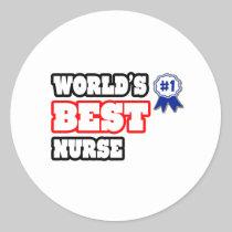 World's Best Nurse Round Stickers