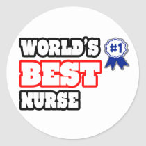 World's Best Nurse Stickers