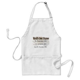 """World's Best Nurses"" --Hilarious Nurse Gifts Adult Apron"