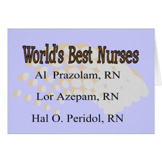 """World's Best Nurses"" --Hilarious Nurse Gifts Card"