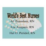 """World's Best Nurses"" --Hilarious Nurse Gifts Post Card"