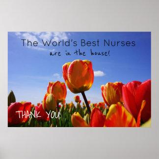 World's Best Nurses posters Nursing Week Celebrate