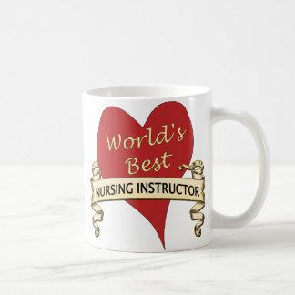 World's Best Nursing Instructor Classic White Coffee Mug