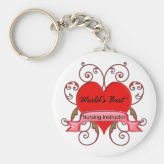 World's Best Nursing Instructor Keychain