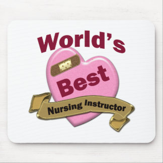 World's Best Nursing Instructor Mouse Pad