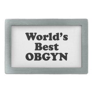 World's Best OBGYN Rectangular Belt Buckles