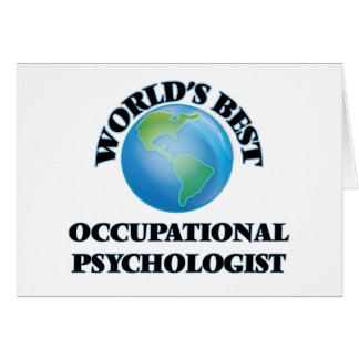 World's Best Occupational Psychologist Card