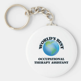 World's Best Occupational Therapy Assistant Basic Round Button Keychain