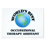 World's Best Occupational Therapy Assistant Invitation
