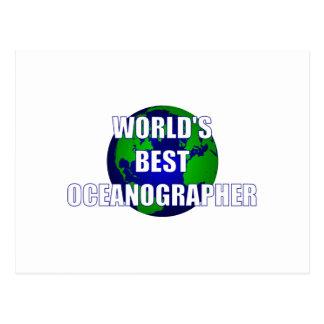 World's Best Oceanographer Postcard