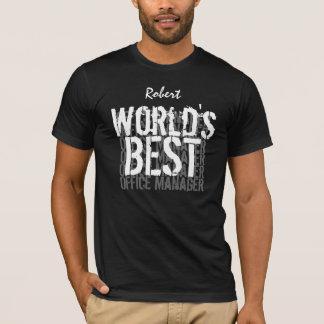 World's Best Office Manager Custom Name V02 T-Shirt