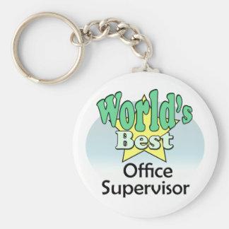 World's best Office Supervisor Basic Round Button Keychain