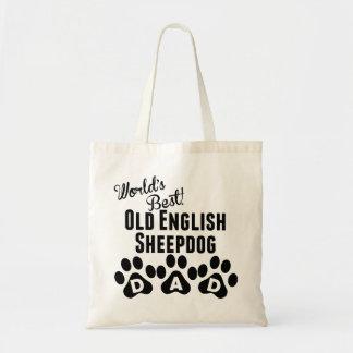 World's Best Old English Sheepdog Dad Budget Tote Bag