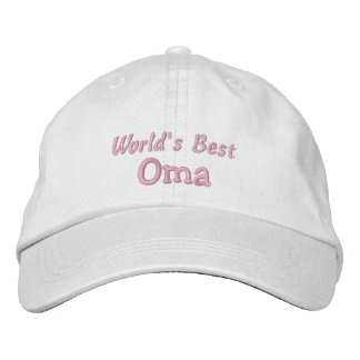 World's Best Oma-Grandparent's Day OR Birthday Embroidered Hat