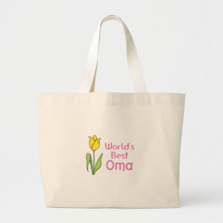 WORLDS BEST OMA LARGE TOTE BAG