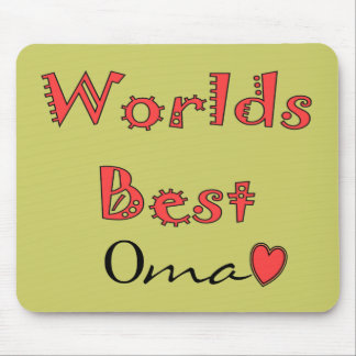 Worlds Best Oma--Mother's Day Gifts Mouse Pad