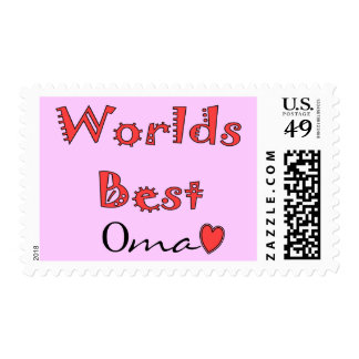 Worlds Best Oma--Mother's Day Gifts Postage
