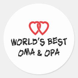 World's Best Oma & Opa Classic Round Sticker