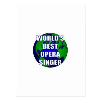 World's Best Opera Singer Postcard