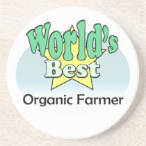World's best Organic Farmer Coaster