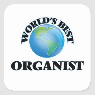 World's Best Organist Square Stickers