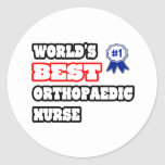 World's Best Orthopaedic Nurse Sticker