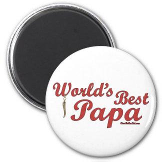 World's Best Papa 2 Inch Round Magnet
