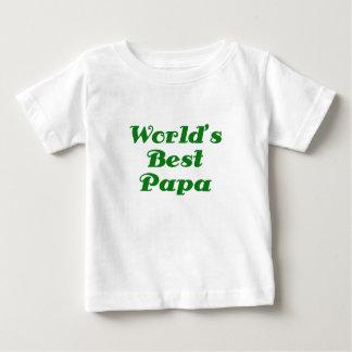 Worlds Best Papa Baby T-Shirt