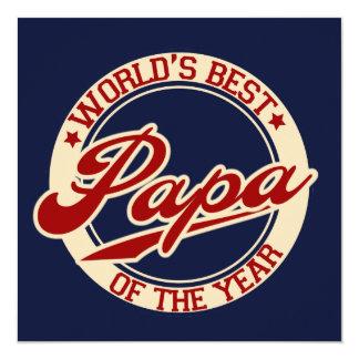 World's Best Papa Card