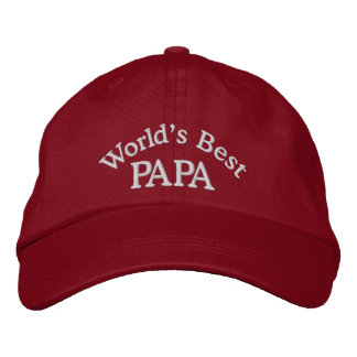 World's Best Papa Embroidered Hat