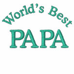 World's Best Papa Embroidered Polo Shirts