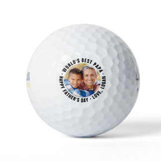 World's Best Papa Father's Day Photo Golf Balls