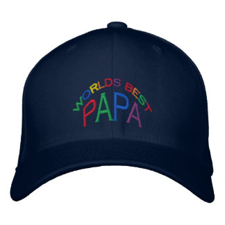 World's Best Papa Hat Embroidered Hats