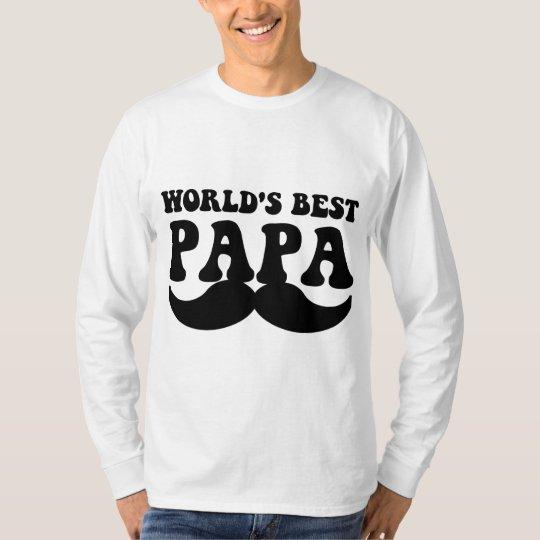 world's best papa mustache T-Shirt