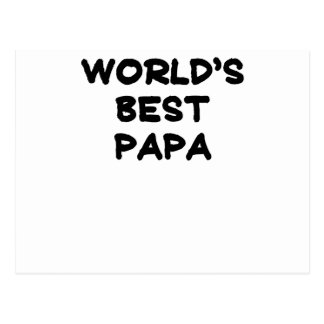 World's Best Papa.png Postcard