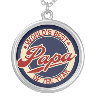 World's Best Papa Silver Plated Necklace