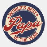 World's Best Papa Stickers